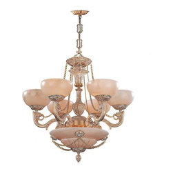 Crystorama Lighting - Crystorama Lighting 966-WH Natural Alabaster Traditional Chandelier - Crystorama Lighting 966-WH Natural Alabaster Traditional Chandelier in French White
