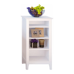 Corner II - Nordic Furniture Storage Shelf by Corner II - The Nordic sunrise storage shelf features 4 interior shelves and a top surface. Great for storage of all types in any room of the home.