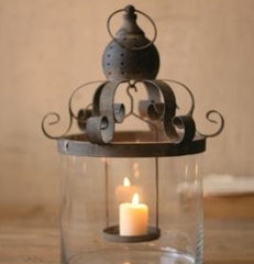 mediterranean candles and candle holders by Farmhouse Wares