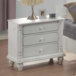 Coaster - Kayla Night Stand - The Kayla collection is crafted with tropical hardwoods and veneers in a white finish.