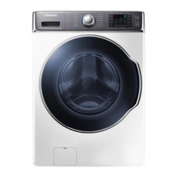 Samsung - WF56H9100AW 5.6 cu. ft. Front Load Washer with 15 Washing Cycles  5 Washing Spee - This front loading washerwill bethe best companion for yourlaundry it allows many features like 15 washing cycles 5 speeds 5 temperature combinations stainless steel tub and a large 56 cu ft capacity