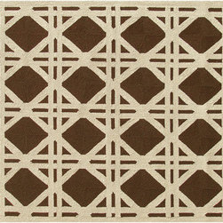 The Rug Market - Cane Brown area rug -