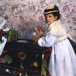 Portrait of Hortense Valpincon as a Child | Edgar Degas | Canvas Prints - Condition: Unframed Canvas Print