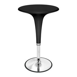 Lumisource - Gelato Bar Table w Adjustable Height - Retro design combined with adjustable height hydraulics make this bar table functional as well as good looking. Extends from 31 to 40 inches high. Made of chrome and plastic. Picture in Black. 26 in. W x 24 in. L x 26 in. H (30 lbs.)