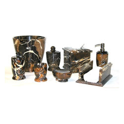 Marble Bathroom Accessory Sets offered by Nature Home Decor. - Exotically Unique.