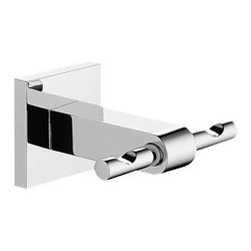 Gedy - Wall Mounted Chromed Double Robe or Towel Hook - A sensible complimentary piece for a decorative or contemporary master bathroom, this hook is the perfect option.