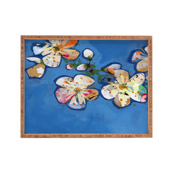 DENY Designs - Land Of Lulu Apple Blossoms 2 Rectangular Tray - With DENY's multifunctional rectangular tray collection, you can use it for decoration in just about any room of the house or go the traditional route to serve cocktails. Either way, you��_��__ll be the ever so stylish hostess with the mostess!