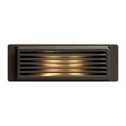 Hinkley - Hinkley One Light Bronze Step Light - 10 in. x 3.5 in. - This One Light Step Light is part of the Line Voltage Deck Collection and has a Bronze Finish. It is Outdoor Capable.