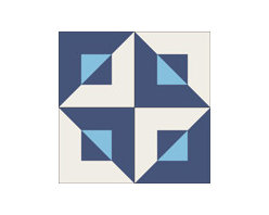 """""""Diagonal Cuadro"""" 8x8 Encaustic Cement Tiles - """"Make every space Count"""" with Rustico Tile and Stone, wholesale flooring, global shipping."""