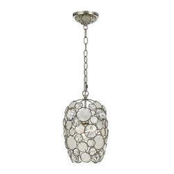 Crystorama Palla Antique Silver Pendant Light -