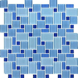 Blue River meli melo - Glass tile mosaic for kitchen and bath