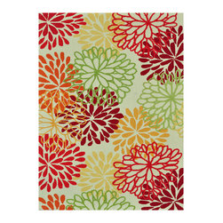 Loloi - Loloi Rugs Juliana Multi Hand Hooked Rug - The hand-hooked Loloi Juliana rug invites playful sophistication to the mod interior. In a vibrant palette, overscale flower motifs exude spirited whimsy. 100% polyester; Red, orange, green, yellow and ivory; Rug pad recommended; Vacuum regularly and clean with neutral detergent, vinegar and water; Sample size available