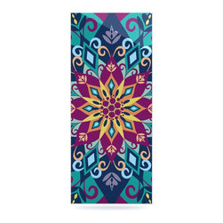 "Kess InHouse - Amanda Lane ""Blooming Mandala"" Metal Luxe Panel (9"" x 21"") - Our luxe KESS InHouse art panels are the perfect addition to your super fab living room, dining room, bedroom or bathroom. Heck, we have customers that have them in their sunrooms. These items are the art equivalent to flat screens. They offer a bright splash of color in a sleek and elegant way. They are available in square and rectangle sizes. Comes with a shadow mount for an even sleeker finish. By infusing the dyes of the artwork directly onto specially coated metal panels, the artwork is extremely durable and will showcase the exceptional detail. Use them together to make large art installations or showcase them individually. Our KESS InHouse Art Panels will jump off your walls. We can't wait to see what our interior design savvy clients will come up with next."