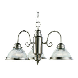 Trans Globe Lighting - Trans Globe Lighting Back to Basics Traditional Chandelier X-NB 5901 - Rich curves and ribbed glass lend a distinctly modern flare to this traditional chandelier. The halophane shade is unique and it provides a bright and durable shine for your bathroom, bedroom, kitchen, or lounge. The finish is made to last and is sure to impress. Share the friendly sparkle with friends and family members.