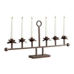 Cyan Design - Cyan Design Evenston Six Candle Candelabra in Bronze - Evenston Six Candle Candelabra in Bronze