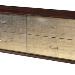 Logan Mirrored 4 Drawer Dresser - Reclaimed Wood Four Drawer Mirrored Dresser