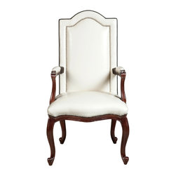 "Malcolm Head Dining Chair - WIDTH:  24 ¾ "" HEIGHT:  45"" SEAT DEPTH:  19"" ARM HEIGHT: 27 ¾"""