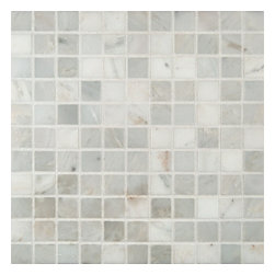 """Marbleville - MSI Arabescato Carrara 1"""" x 1"""" Honed Marble Mosaic  in 12"""" x 12"""" Sheet - Premium Grade Arabescato Carrara 1"""" x 1"""" Honed  Mesh-Mounted Marble Mosaic is a splendid Tile to add to your decor. Its aesthetically pleasing look can add great value to the any ambience. This Mosaic Tile is constructed from durable, selected natural stone Marble material. The tile is manufactured to a high standard, each tile is hand selected to ensure quality. It is perfect for any interior/exterior projects such as kitchen backsplash, bathroom flooring, shower surround, countertop, dining room, entryway, corridor, balcony, spa, pool, fountain, etc."""