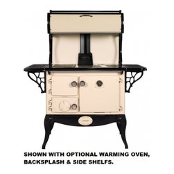 "Stanley - WSERWBNBCRM Waterford Stanley 36"" Wood Stove with 35 000 Btu  1.8 Cu. Ft  Griddl - The large firebox will hold enough wood to heat your home for several hours A precision draft spinwheel lets you accurately control cooking and room temperatures As a home heater the Stanley performs well featuring both primary and secondary combusti..."