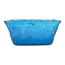 The Pomeroy Collection - Blue Square Bowl - Create a new centerpiece with this tranquil blue bowl.   5.86'' W x 4.5'' H x 4.75'' D Glass Imported