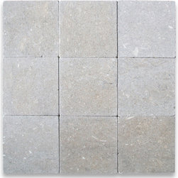 """Stone Center Online - Seagrass 4 x 4 Tile Tumbled - Limestone from Turkey - Premium Grade Turkish Limestone Seagrass Tumbled 4x4"""" Wall & Floor Tiles are perfect for any interior/exterior projects such as kitchen backsplash, bathroom flooring, shower surround, countertop, dining room, hall, lobby, corridor, balcony, terrace, spa, pool, etc. Our large selection of coordinating products is available and includes hexagon, herringbone, basketweave mosaics, subway tiles, moldings, borders, and more."""