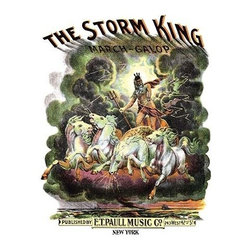 """Buyenlarge.com, Inc. - The Storm King: March-Galop- Paper Poster 12"""" x 18"""" - Edward Taylor Paull (1858 - 1924) was a prolific publisher of sheet music marches. His songs gained acclaim more from the cover art of the sheet music than often from the lyrics and tune."""
