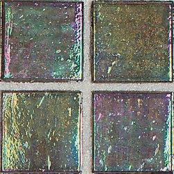 Bijou de Verre in Cream Soda - glass mosaic tile