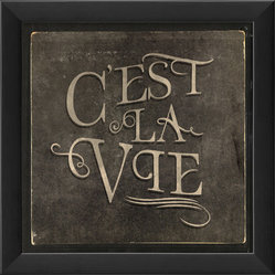 The Artwork Factory - 'C'est La Vie' Print - You've got a laid-back philosophy — with a French attitude. Flaunt it with this museum quality print on high resolution, acid-free paper, ready to hang in your favorite setting.