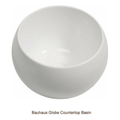 Bauhaus Globe Countertop Basin - Beautiful, high-quality and on trend ceramic ware by trusted brand Bauhaus.