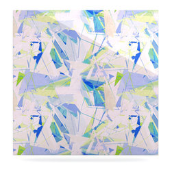 """Kess InHouse - Alison Coxon """"Shatter Blue"""" Metal Luxe Panel (10"""" x 10"""") - Our luxe KESS InHouse art panels are the perfect addition to your super fab living room, dining room, bedroom or bathroom. Heck, we have customers that have them in their sunrooms. These items are the art equivalent to flat screens. They offer a bright splash of color in a sleek and elegant way. They are available in square and rectangle sizes. Comes with a shadow mount for an even sleeker finish. By infusing the dyes of the artwork directly onto specially coated metal panels, the artwork is extremely durable and will showcase the exceptional detail. Use them together to make large art installations or showcase them individually. Our KESS InHouse Art Panels will jump off your walls. We can't wait to see what our interior design savvy clients will come up with next."""