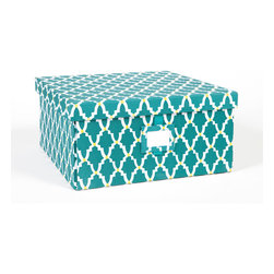 Working Class Studio - Re-Gift Collection Lattice Box, Teal, Large - It IS better to give than receive — especially when you use a package as pretty as this. Not only will your present be appreciated, the box is bound to serve for storing letters, mementos, whatever.