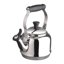 Le Creuset - Le Creuset  Quart Demi Tea Kettle, Stainless Steel - The stainless steel adds a touch of contemporary style to your stovetop with its lustrous finish and charming silhouette. The stainless steel kettle features a locking handle and comfortable grip for steady pouring.