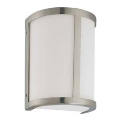 Nuvo Lighting - Odeon Brushed Nickel One-Light Energy Star Bath Fixture with Satin White Glass - Odeon Brushed Nickel One-Light Energy Star Bath Fixture with Satin White Glass Nuvo Lighting - 60/3801