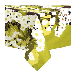 "Marimekko® La Botte Floral 60""x90"" Tablecloth - This exuberant floral tablecloth by Marimekko was designed by Maija Isola in 1975, and it's never gone out of style."