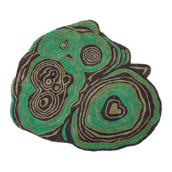Malachite Accent Rug