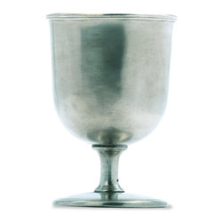 """Match - Match Beer Goblet - Handmade in Italy, this pewter beer goblet is a classic, elegant way to enjoy your favorite beer. Dimensions: 5.7""""H."""
