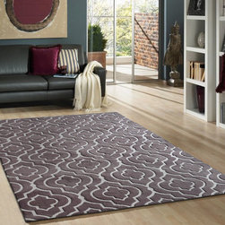~5' x 7' ft. Contemporary Light Brown Indoor Hand-tufted Area Rug - This Rug Measures Approximate Size(Width X Length):~5 X 7' ft. (152 cm x 214 cm) / No Assembly Required