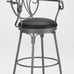 """Tempo - Brentville 30"""" Swivel Bar Stool - Tempo was founded in 1970 and is recognized today as the fashion leader for casual dining, pub tables and barstools. The companys product line features contemporary, transitional and traditional styling. Tempo is recognized for its commitment to quality, comfort, and a broad assortment of custom choices that feature high performance fabrics, durable non-toxic powder coat finishes, glass and wood tops in a variety of sizes and chairs that feature stationary seating, swivel and tilt swivel designs. Thank you for selecting Tempo to become part of your home décor. Features:  -30"""" Swivel Bar Stool. -Customize the Brentville bar stool to suit your needs. -Over 50 fabric options and 18 finishes to choose from. -Constructed for commercial or residential use. -16 Gauge steel. -Some assembly required. -Seat height: 30"""". All Tempo Metal stools utilize a commercial grade 16 guage stainless steel. These are the most durable stools in the industry. TEMPO INDUSTRIES, INC. warrants its iron metal product construction to be free from defects in workmanship and materials for the life of the product. Fabric coverings and moving parts are not covered by this warranty."""