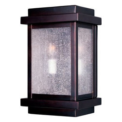 Maxim Lighting - Maxim Lighting 4651CDBU Cubes 2-Light Outdoor Wall Lantern in Burnished - Cubes outdoor Collection's selection of transitional and contemporary outdoor lighting focuses on simple design to brighten up any entry.