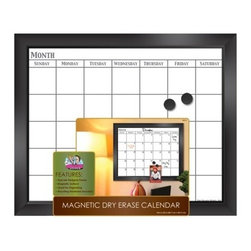 The Board Dudes Magnetic Dry-erase Calendar - Here's a magnetic dry-erase board with a calendar. I really like the erasable calendar.