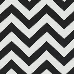 Orien Textile - Chevron - Outdoor Fabric, Black & White - This great outdoor fabric is stain and water resistant, perfect for outdoor settings and indoors in sunny rooms. It is fade resistant up to 500 hours of direct sun exposure. Create decorative toss pillows, chair pads, tabletop and tote bags. To maintain the life of the fabric bring indoors when not in use. This fabric can easily be cleaned by wiping down or hand washing with warm water and a mild soap solution, simply rinse with clear water to prevent dirt from embedding itself into the fabric.
