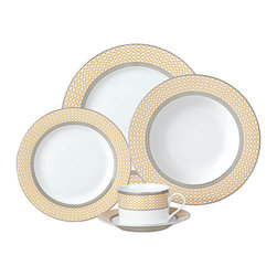 Jay Import Co - Buckingham 20 Piece Dinnerware Set - Simple elegance and timeless style — that's what you'll serve with this 20-piece dinnerware set. Use it to highlight your fine cuisine and make every meal a touch more sophisticated.