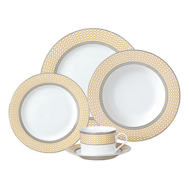 Jay Import Co - Buckingham 20-Piece Dinnerware Set - Simple elegance and timeless style — that's what you'll serve with this 20-piece dinnerware set. Use it to highlight your fine cuisine and make every meal a touch more sophisticated.