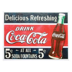 "Westland - Retro ""Delicious Refreshing Drink Coca-Cola"" Canvas Wall Art Hanging - This gorgeous Retro ""Delicious Refreshing Drink Coca-Cola"" Canvas Wall Art Hanging has the finest details and highest quality you will find anywhere! Retro ""Delicious Refreshing Drink Coca-Cola"" Canvas Wall Art Hanging is truly remarkable."