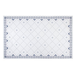 Anfa Blue and White Rectangular Tablecloth