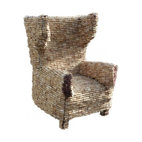 ecofirstart - Ear Armchair 1 - A simple stopper becomes a piece of functional art on a grand scale with this mind-boggling chair made of countless corks. Delight your inner wine enthusiast by enjoying your favorite vintage while lounging in its surprisingly comfortable embrace.