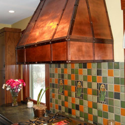 The Metal Peddler, Inc - Copper range hood - Arts and Crafts - Stunning copper range hood, custom built to client request. High quality copper with hammered body, copper strapping and pyramid clavos.