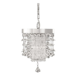 Uttermost - Fascination Crystal Mini Pendant - Can you imagine the impact of three of these crystal minim pendants hanging the length of your dining room table? Or just one in your entryway? The glitter, the glam, the sparkle? And that's before you turn them on!