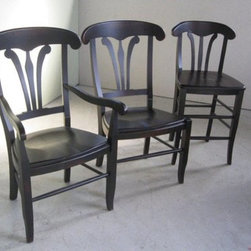 """24"""" Cottage Style Black Counter Stool - From http://www.ecustomfinishes.com"""