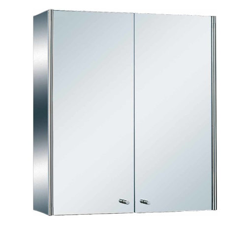 Renovators Supply - Medicine Cabinets Bright Stainless Steel Double Medicine Cabinet   13519 - Bathroom Medicine Cabinet Mirror. Maximize storage in style, this exquisite medicine cabinet is 100% stainless steel inside and out. The perfect investment for any bathroom. Measures: 21 3/4 inch H x 19 3/4 inch W x 5 3/4 inch projection.